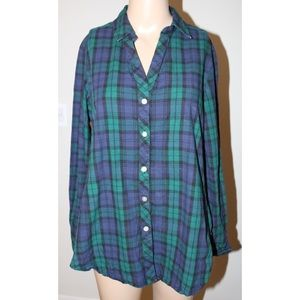 Blue and Green plaid shirt